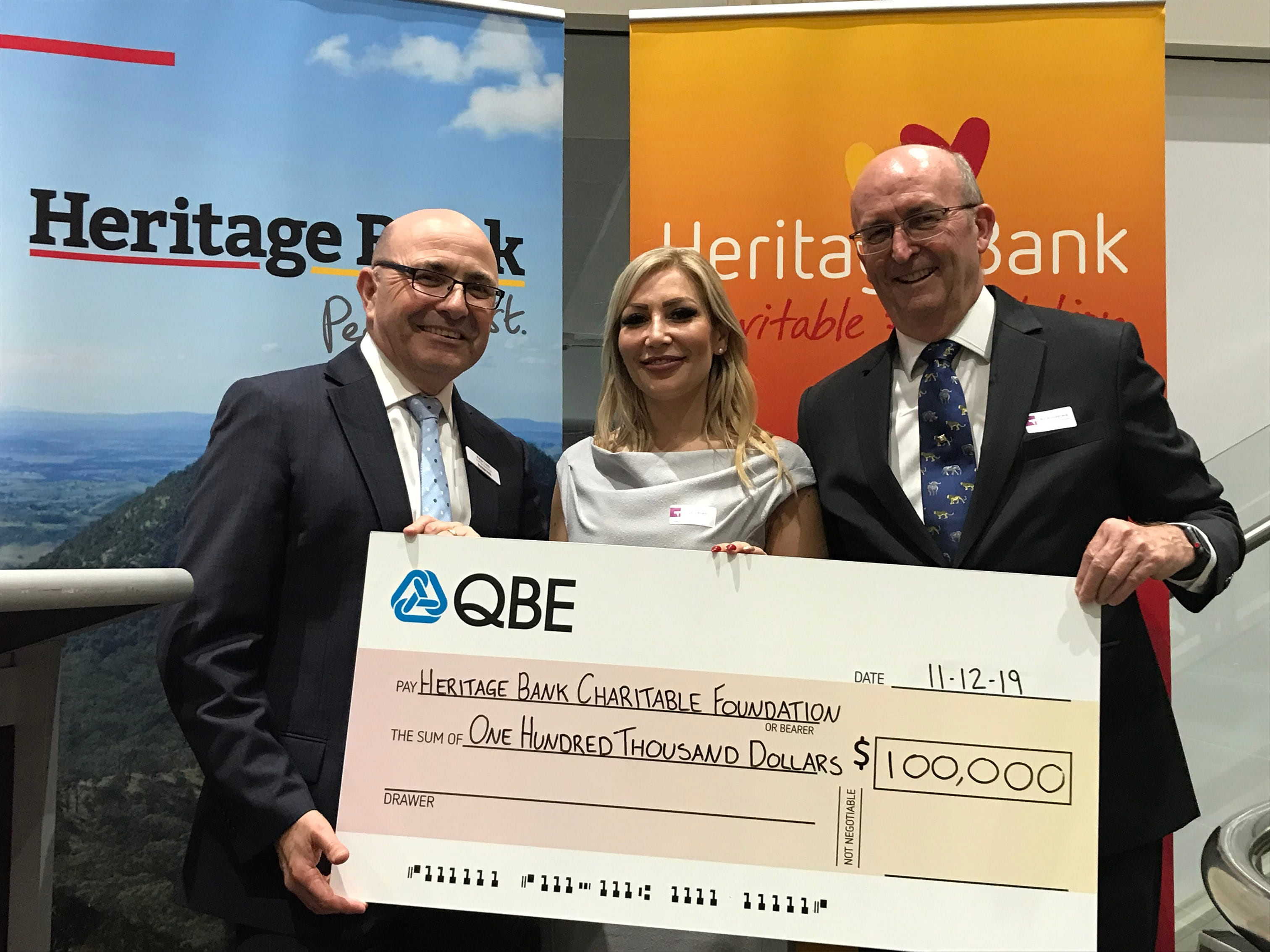 QBE supports the Heritage Bank Charitable Foundation